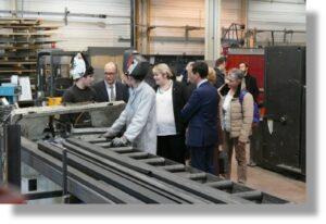 Visite de l'atelier Métallerie de l'AFEp et rencontre avec les élèves et maîtres-professionnels