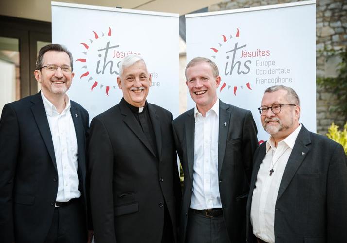 Rassemblement en présence du P. Arturo SOSA ABASCAL, supérieur général de la compagnie de Jésus, réunissant environ 700 personnes, dont 220 jésuites lors de la création de la province d'Europe occidentale francophone, Namur (5000), Belgique.